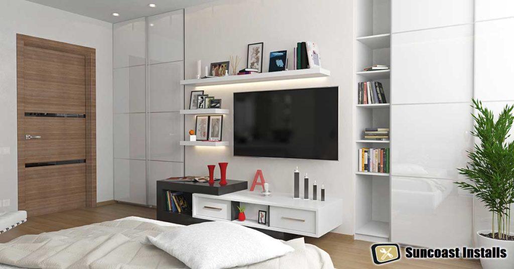 bedroom tv installation